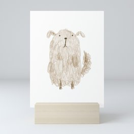 Fluffy Dog Mini Art Print