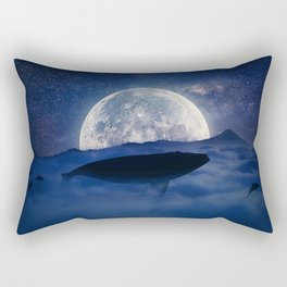 flying night whale Rectangular Pillow
