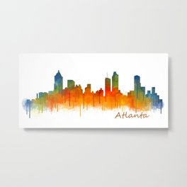 Atlanta City Skyline Hq v2 Metal Print