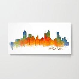 Atlanta City Skyline Hq v2 Metal Print