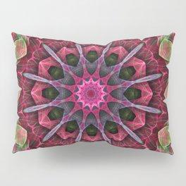 Scarlet Lace Starburst Mandala Pillow Sham