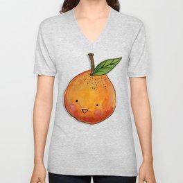 Cutie Orange Head Unisex V-Neck