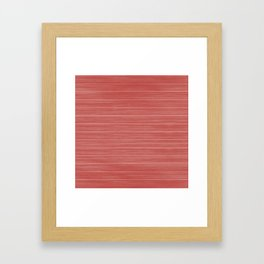 Pastel Red Whitewashed Beach House Cladding Framed Art Print