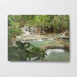 Zen Waterfalls Harmony #2 Metal Print
