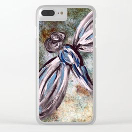Rustic Dragonfly Art Clear iPhone Case