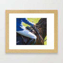 Horse Jumping I Framed Art Print