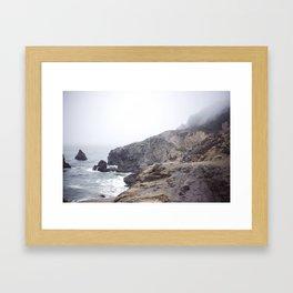 Foggy California Coast Framed Art Print