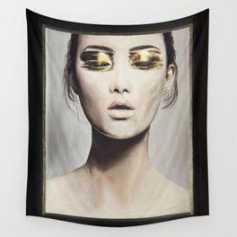 Golden Eyes Wall Tapestry