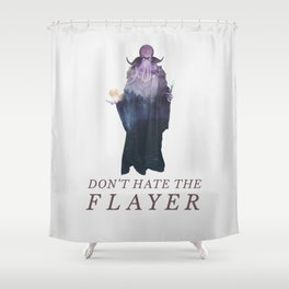 Mind Flayer (Typography) Shower Curtain