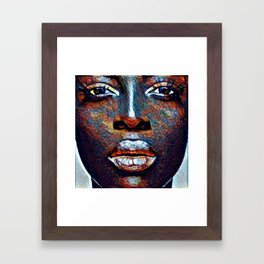 Colored Woman Framed Art Print