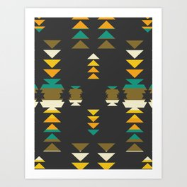 Bright shapes in the dark Art Print