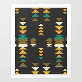 Bright shapes in the dark Art Print