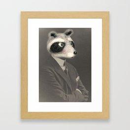 Mr. Racoon Framed Art Print