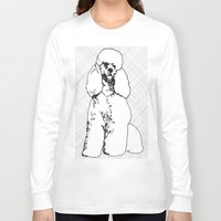 poodle Long Sleeve T-shirts featuring My Poodle by Mike van der Hoorn
