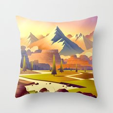 Nature Mountains Throw Pillow
