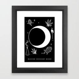 Waxing Crescent Moon Framed Art Print
