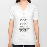 dr seuss V-neck T-shirts featuring Dr. Seuss by thatfandomshop