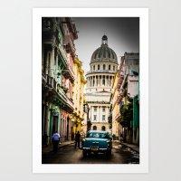 cuba Art Prints featuring Cuba by mirelfis