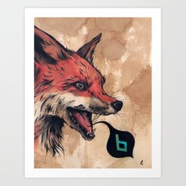 """Open"" series, VII (Fox) Art Print"