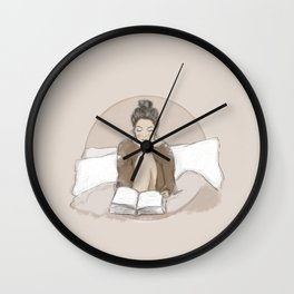 moon child, book lover Wall Clock