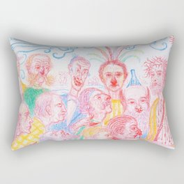Scenes from the life of christ - James Sidney Edouard Baron Ensor Rectangular Pillow