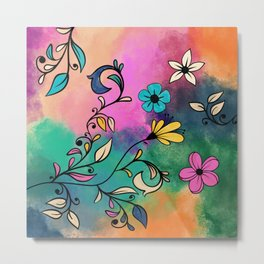Magical Flowers No2 Metal Print