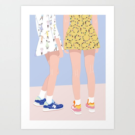 GIRLFRIENDS Art Print