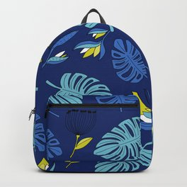 Tropical forest jungle monstera flowers pattern Backpack