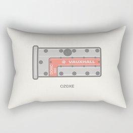 Vauxhall C20xe Rocker cover Illustration Rectangular Pillow