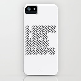 loose lips sink ships dazzle typography iPhone Case