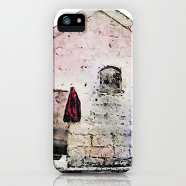 Sassi di Matera with red jacket iPhone Case
