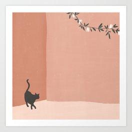 little visitor Art Print
