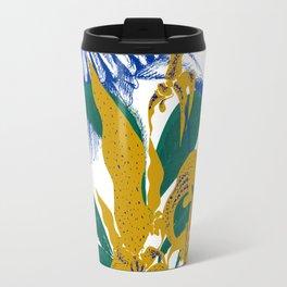 Midnight blooms - Asian paradise fly catcher bird Travel Mug