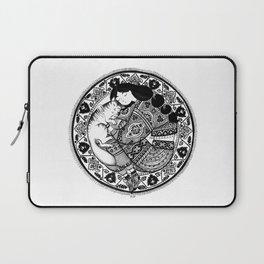 cat & girl mandala Laptop Sleeve