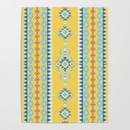 Bright Boho Tribal Pattern Poster