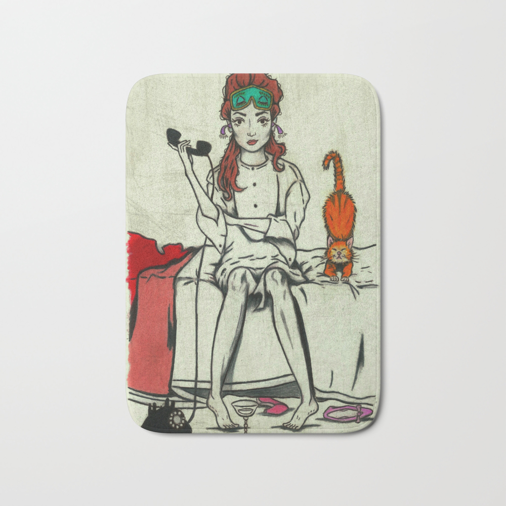 Crazy About Tiffany's Bath Mat by Littleenithandsons BMT9057288