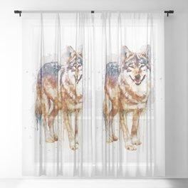Alpha Wolf Sheer Curtain