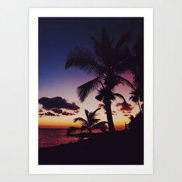 Summer Night Sunset Art Print
