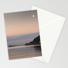 Swansea Bay by moonlight Stationery Cards
