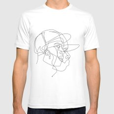 Dillas MEDIUM White Mens Fitted Tee