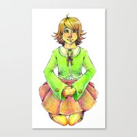 chihiro Canvas Prints featuring Chihiro by Mottinthepot