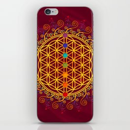 FLOWER OF LIFE, CHAKRAS, SPIRITUALITY, YOGA, ZEN, iPhone Skin
