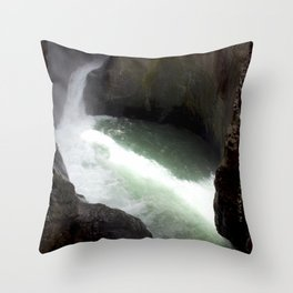 Roaring Box Canyon Falls, in a 200-foot Crevasse Throw Pillow