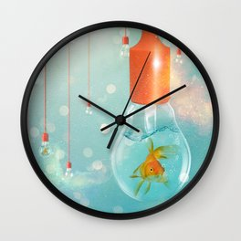 Ideas and Goldfish ... Wall Clock