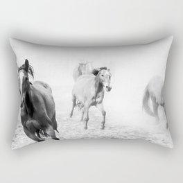 Running with the horses Rectangular Pillow