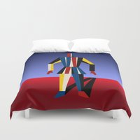 soldier Duvet Covers featuring TIN SOLDIER by THE USUAL DESIGNERS