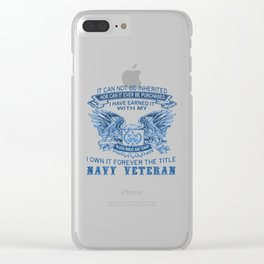 NAVY VETERAN Clear iPhone Case