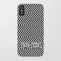 twin peaks iPhone & iPod Cases featuring Twin Peaks by Spyck