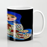russian Mugs featuring Russian dolls by maggs326