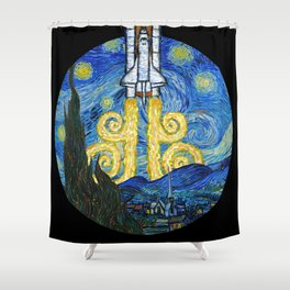 Starry Space Shuttle Shower Curtain